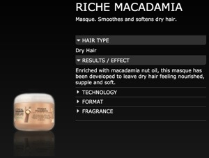 Riche Macadamia Masque