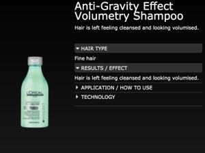 Anti-Gravity Effect Shampoo
